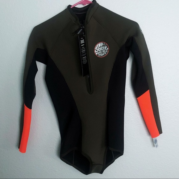 f62f46674d Ripcurl olive green orange   black cheeky wetsuit